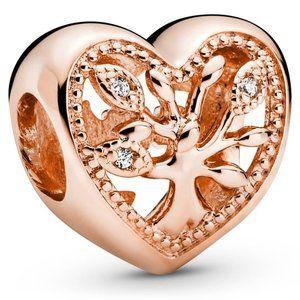 Pandora Rose Family Tree Heart Charm